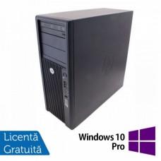 Workstation Refurbished HP Z210, Intel Xeon Quad core E3-1240, 3.3 Ghz-3.70GHz, 8GB DDR3, 500GB HDD + 1TB HDD, DVD-ROM, nVidia Quadro 2000/1GB + Windows 10 Pro