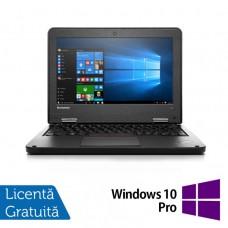 Laptop Refurbished LENOVO Yoga 11e, Intel Celeron N2930 Quad Core 1.80GHz, 8GB DDR3, 120GB SSD + Windows 10 Pro