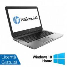 Laptop HP ProBook 640 G1, Intel Core i5-4200M 2.50GHz, 8GB DDR3, 120GB SSD, DVD-RW, 14 inch + Windows 10 Home