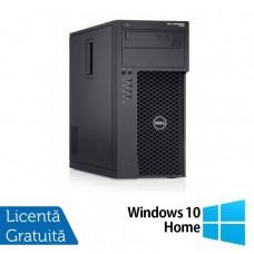 Workstation Dell Precision T1650, Intel Xeon Quad Core E3-1270 V2 3.50GHz - 3.90GHz, 8GB DDR3, 120GB SSD, nVidia GT 605/1GB, DVD-RW + Windows 10 Home