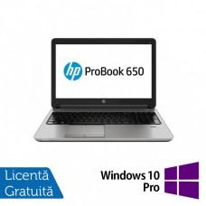 Laptop HP EliteBook 650 G1, Intel Core i5-4300M 2.60GHz, 8GB DDR3, 240GB SSD, Webcam, 15 Inch + Windows 10 Pro