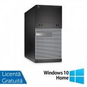 Calculator DELL OptiPlex 3020 Tower, Intel Core i3-4130 3.40GHz, 4GB DDR3, 250GB SATA, DVD-ROM + Windows 10 Home