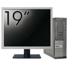 Pachet Calculator DELL 3020 SFF, Intel Core i3-4130 3.40GHz, 4GB DDR3, 500GB SATA, DVD-RW + Monitor 19 Inch
