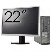 Pachet Calculator DELL 3010 SFF, Intel Core i5-3470 3.20GHz, 4GB DDR3, 500GB SATA, DVD-ROM + Monitor 22 Inch