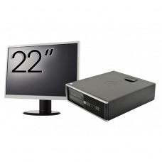 Pachet Calculator HP 6300 SFF, Intel Core i3-2120 3.30GHz, 8GB DDR3, 250GB SATA, Radeon HD7470 1GB DDR3, 1 Port Serial + Monitor 22 Inch