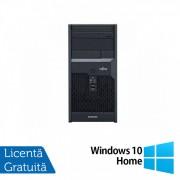 Calculator Fujitsu Esprimo P2560, Intel Core 2 Duo E7500 2.93GHz, 4GB DDR3, 160GB SATA, DVD-ROM + Windows 10 Home