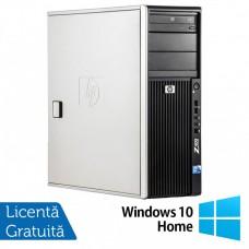 WorkStation HP Z400, Intel Xeon Quad Core W3520 2.66GHz-2.93GHz, 12GB DDR3, 1TB SATA, Placa video Gaming AMD Radeon R7 350 4GB GDDR5 128-Bit, DVD-RW + Windows 10 Home