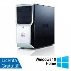 Workstation Dell Precision T1500, Intel Quad Core i7-870 2.93GHz - 3.60GHz, 8GB DDR3, 500GB HDD, AMD FirePro V3900 1GB, DVD-RW + Windows 10 Home