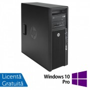 Workstation HP Z420, CPU Intel Xeon E5-1603 2.80GHz Quad Core, 16GB DDR3 ECC, 240GB SDD,  nVidia Quadro K2000/2GB GDDR5, DVD-RW + Windows 10 Pro