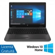 Laptop HP 6570b, Intel Core i5-3230M 2.60GHz, 4GB DDR3, 320GB SATA, DVD-RW, Fara Webcam, 15.6 Inch + Windows 10 Home